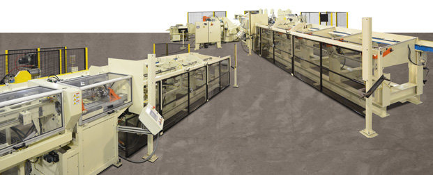 integrated processing line for automotive air bag tubing.