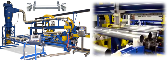 Multiple station end finishing and inspection machine