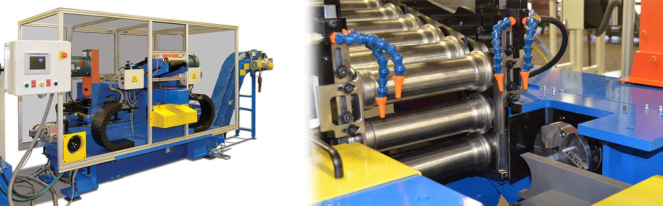 Haven's Servo Double End Finisher for Pipe Couplings