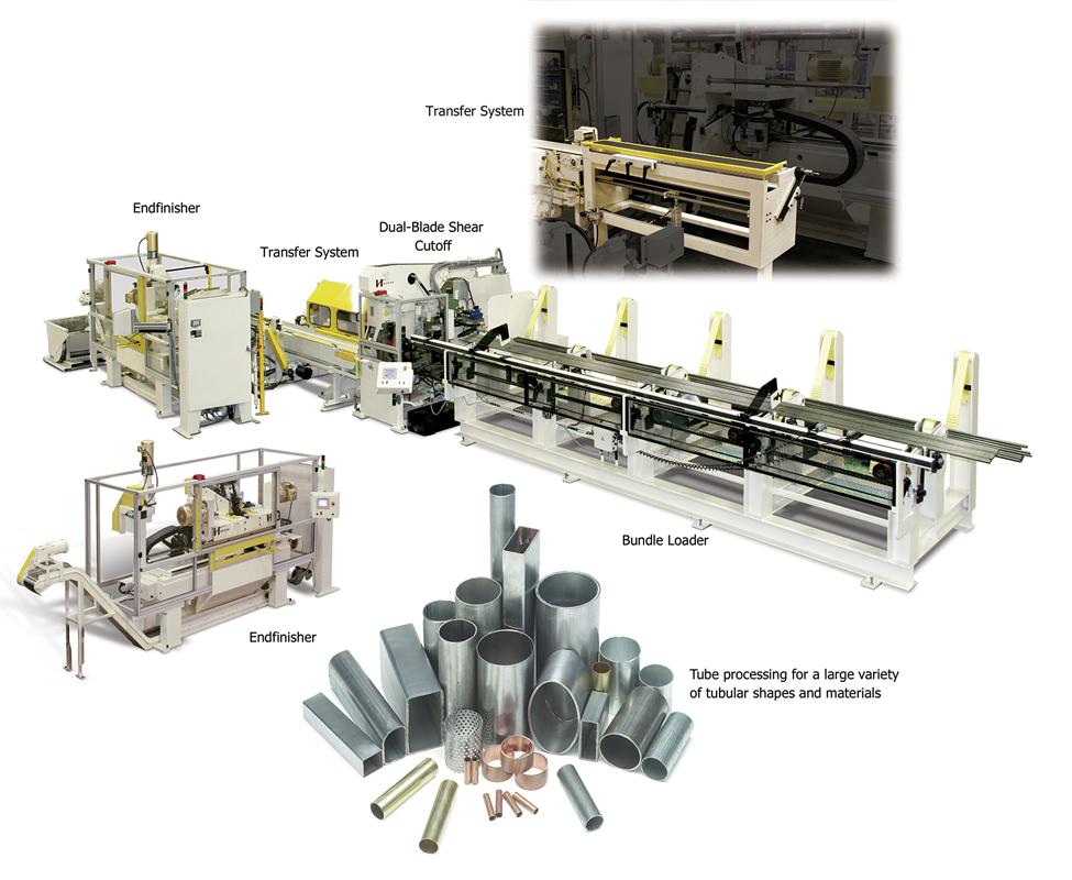 Tube processing machines